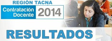 RESULTADOS contrato docente 2014