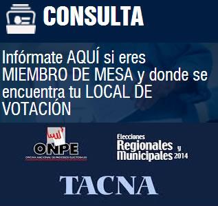 ELECCIONES TACNA 2014 TACNA
