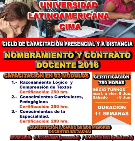 CURSO NOMBRAMIENTO Y CONTRATO DOCENTE 2015- 2016
