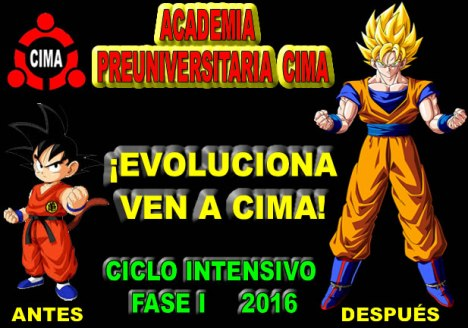 CICLO FASE I 2016 UNJBG ACADEMIA CIMA