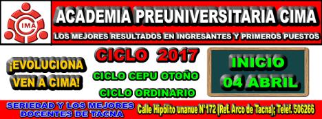 ADMISION UNJBG 2017 CEPU OTOÑO UNJBG