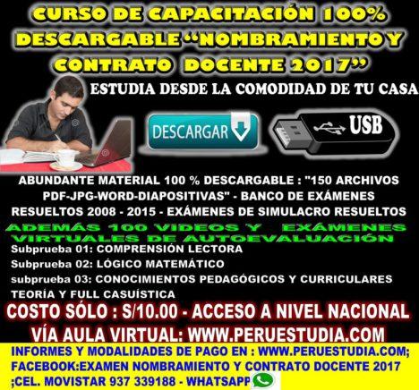 """CURSO-DE-CAPACITACIÓN-100-DESCARGABLE-""""NOMBRAMIENTO-Y-CONTRATO-DOCENTE-2017""""-768x717"""